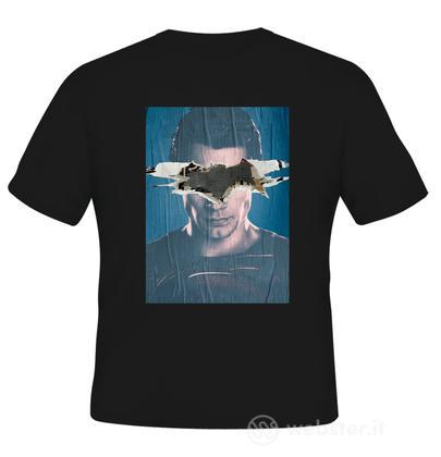 T-Shirt BVS Superman Poster Black S