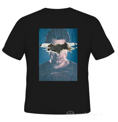 T-Shirt BVS Superman Poster Black L