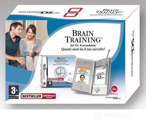 Nintendo DS Lite - Silver + Brain Train.