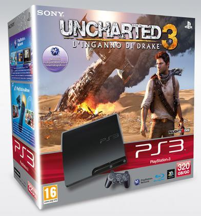 Playstation 3 320GB K + Uncharted 3