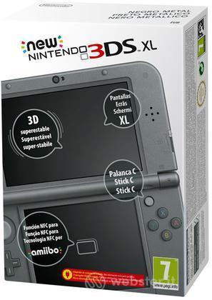 Nintendo New 3DS XL Nero Metallizzato