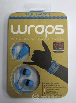 BB Auricolare Wraps Wristband Azzurro