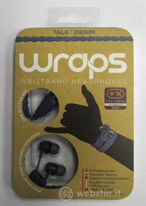 BB Auricolare Wraps Wristband Denim Blu