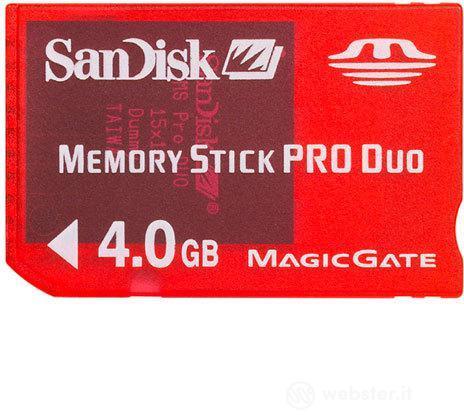 PSP SanDisk Memory Stick Pro Duo 4 Gb