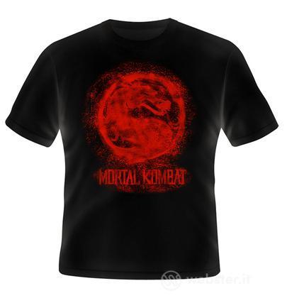 T-Shirt Mortal Kombat Bloody Logo L