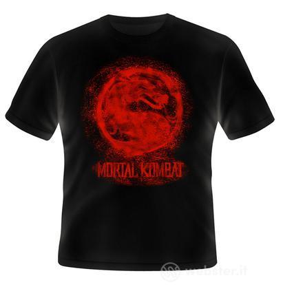 T-Shirt Mortal Kombat Bloody Logo S