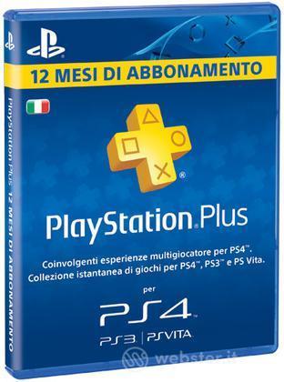 Sony PSN PS Plus Card 12 Mesi PS4 Brand.