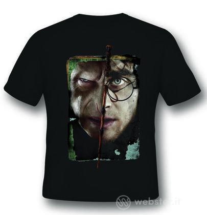 T-Shirt Harry vs Voldemort Black XL