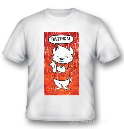 T-Shirt Big Bang Theory Bazinga Dog L