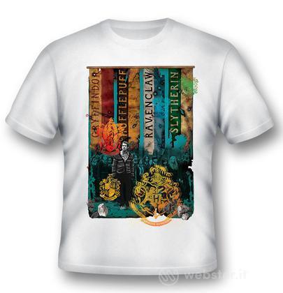 T-Shirt Hogwarts Houses Black M