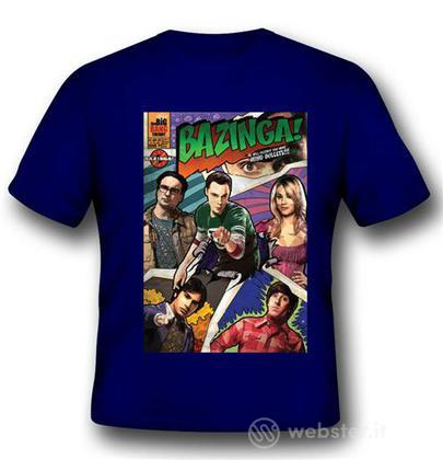 T-Shirt Big Bang Theory Bazinga Comic L