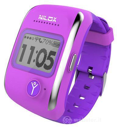 "Nilox Smartwatch Bodyguard 1"" LCD Viola"
