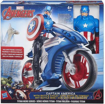 Figure M.Avengers C.America 30cm+Veicolo