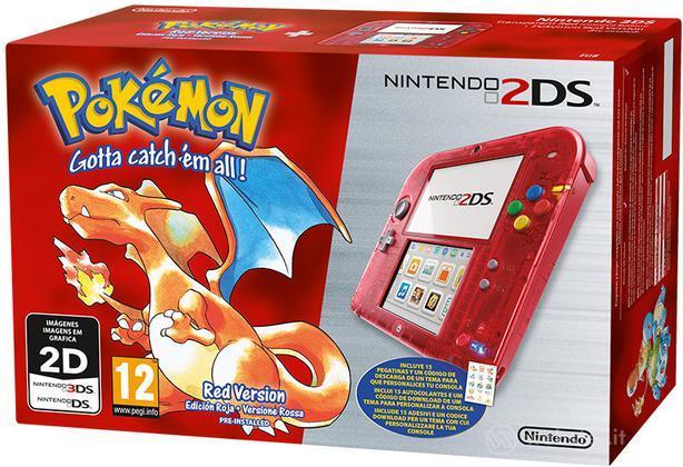 Nintendo 2DS Rosso + Pokemon Rosso