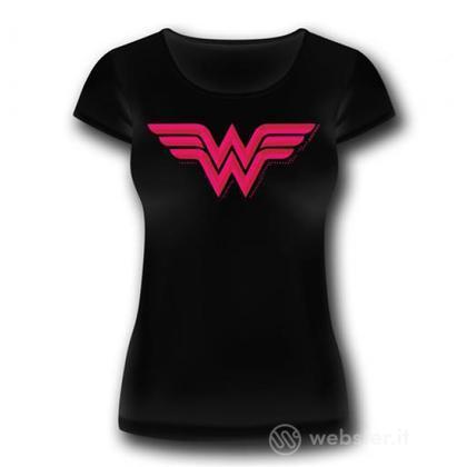 T-Shirt Wonder Woman Logo Donna S
