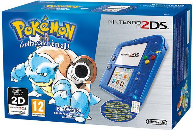 Nintendo 2DS Blu + Pokemon Blu