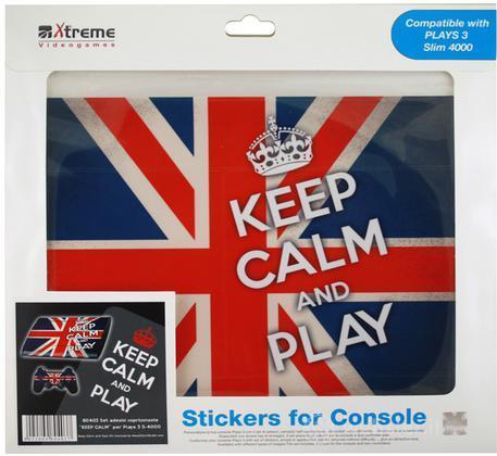 Stickers Keep Calm UK Flag PS3 Slim