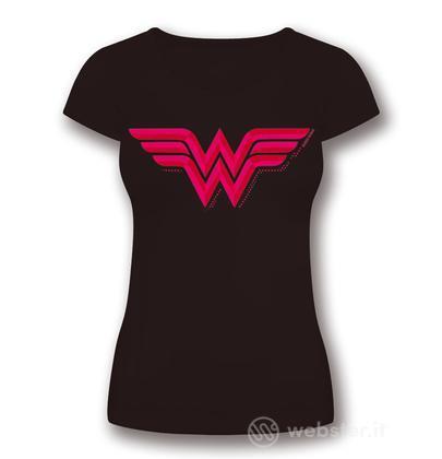 T-Shirt Wonder Woman Logo Donna XL
