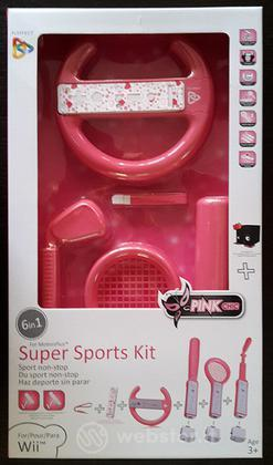 KIT 6 in 1 Super Sports Rosa WII