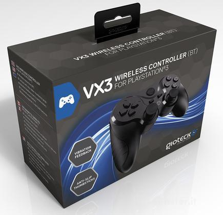 GIOTECK Controller Wrlss VX3 PS3 Nero
