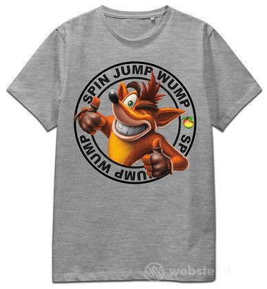 T-Shirt Crash Spin Jump Wump (Grey) S