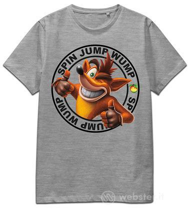 T-Shirt Crash Spin Jump Wump (Grey) M