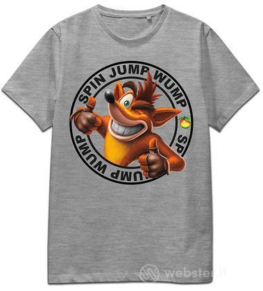 T-Shirt Crash Spin Jump Wump (Grey) XL