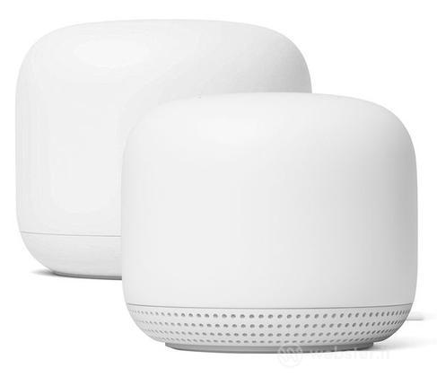 Google Nest Wifi Router + Point Bianco