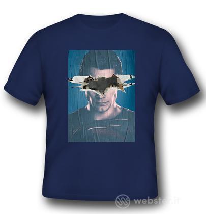 T-Shirt BVS Superman Poster Blue S