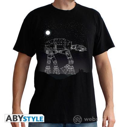 T-Shirt Star Wars - AT-AT Stars M