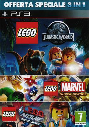 Lego Jurassic + Lego Marvel + Lego Movie