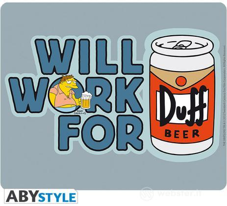 Mousepad Simpsons - Will Work for Duff