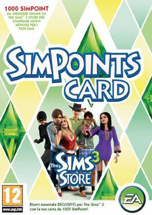 The Sims 3 Simpoints Retail Card