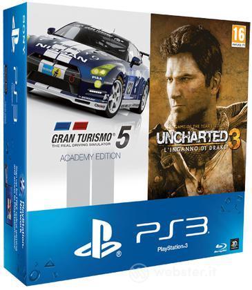 Playstation 3 500GB+GT5 A.Ed.+Unch3 GOTY