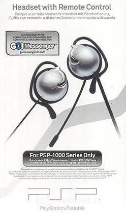 PSP Sony Headset + Telecomando 1000