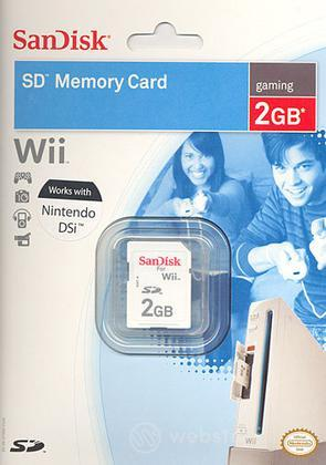 WII DSi Sandisk Memory SD 2 Gb