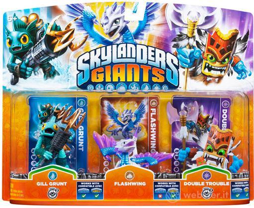 Skylanders Flashwing+G.Grunt+DTrouble(G)