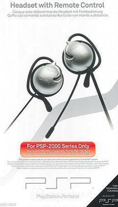 PSP Sony Headset + Telecomando 2000