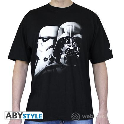 T-Shirt Star Wars - Vader & Trooper M