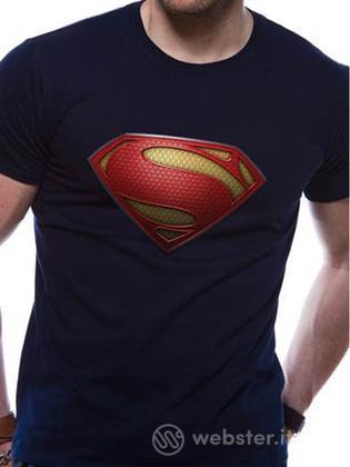 T-Shirt DC Comics Superman Uomo Blu XL