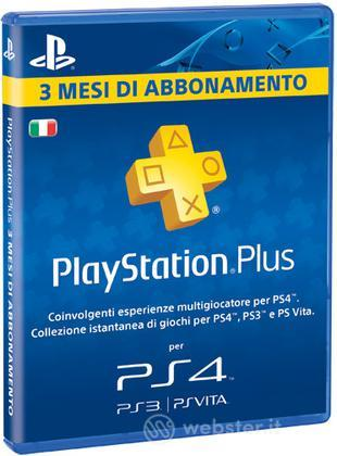 Sony PSN PS Plus Card 3 Mesi PS4 Branded