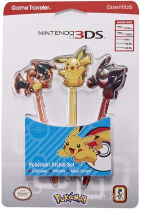 BB Stylus Pokemon 3 pezzi NEW 3DS XL