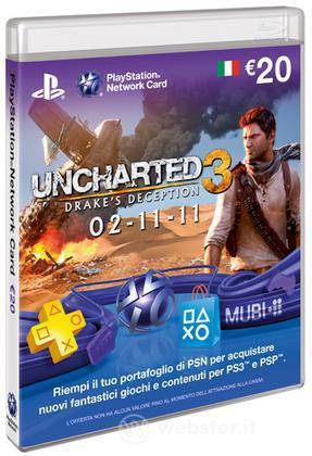 Sony PSN Card 20 Euro Uncharted 3