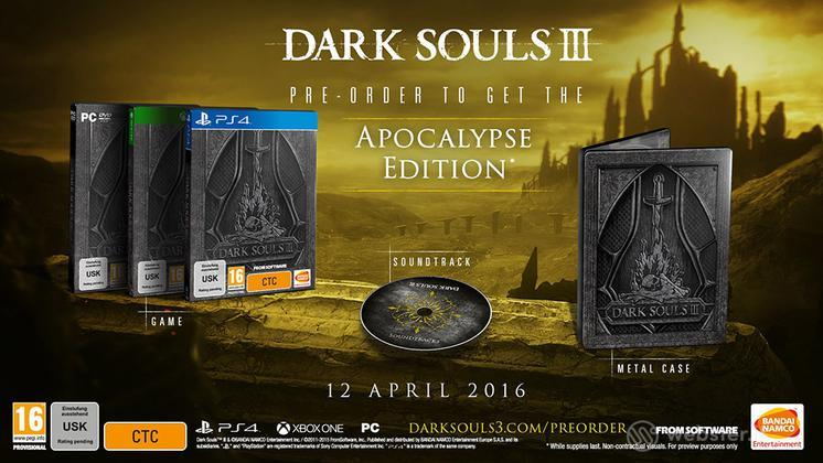 Dark Souls III Apocalypse Ed Day One Ed.