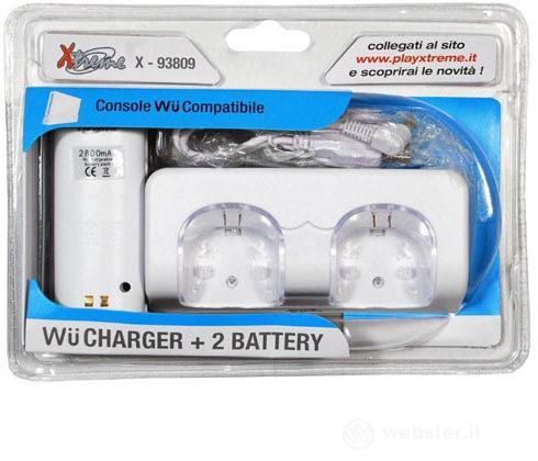WII Charger + 2 Battery - XT