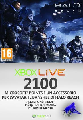 MICROSOFT X360 Live 2100pt Halo Reach