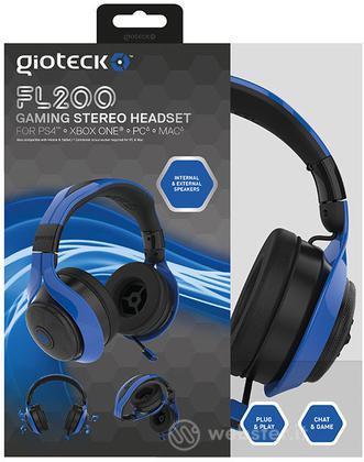 GIOTECK Cuffie Stereo FL200 Blu