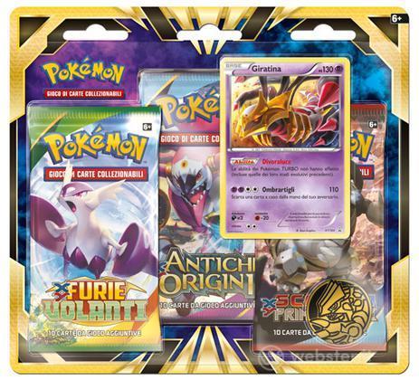 Pokemon Giratina da 3 buste blister