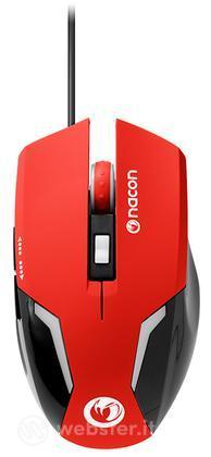 NACON Mouse Ottico 105 Rosso PC