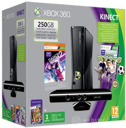 XBOX 360 250GB Kinect Value Bundle